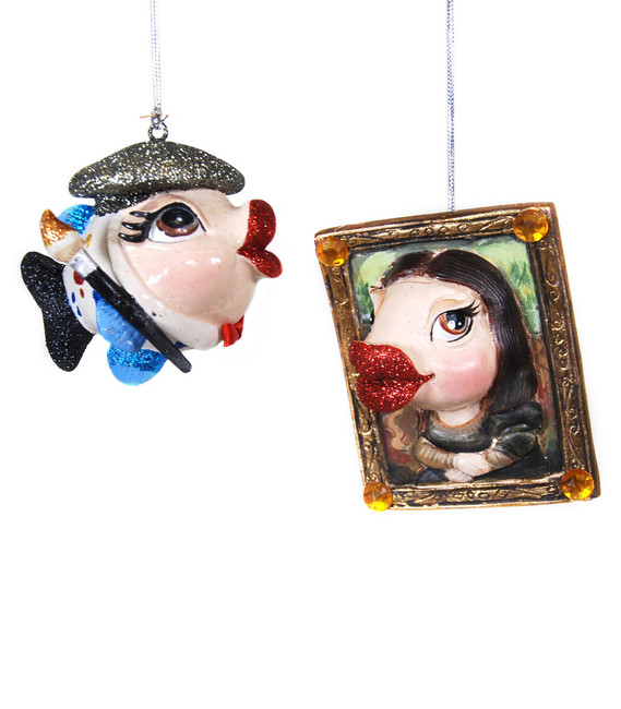 Limited Edition Katherine's Collection Artist/ Muse Kissing Fish Set of 2