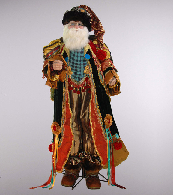 Limited Edition Katherine's Collection Nicolaus Gregarious Santa Doll 65""