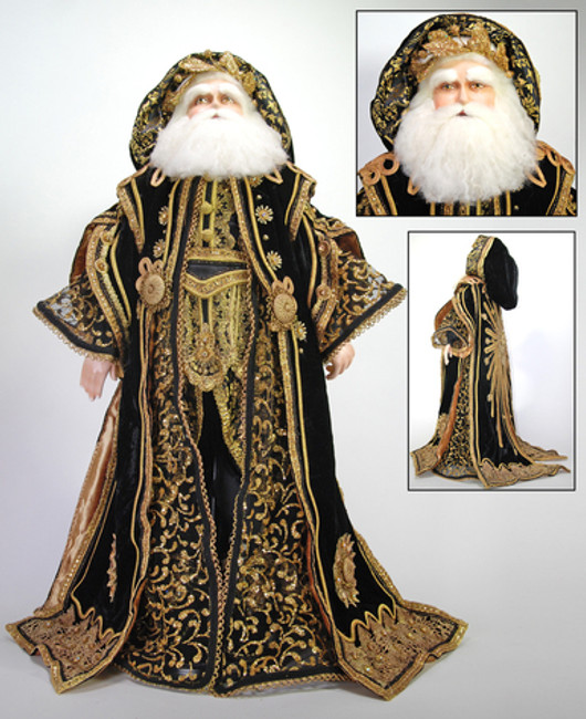 "Black Gold Santa 32"" Katherines"