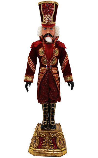 Captian Crimson Nutcracker Doll 32""