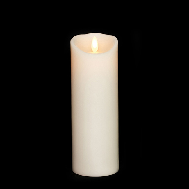 """8"""" Flameless Ivory Smooth Wax Scented Candle"""