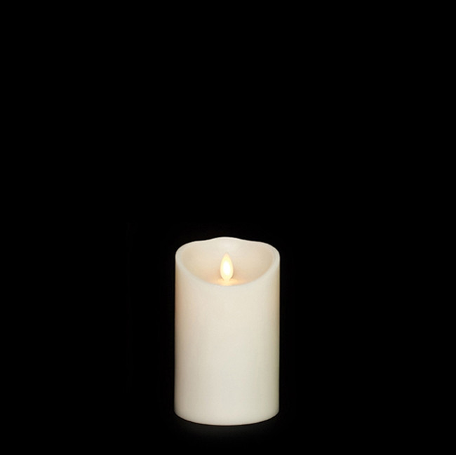 "5"" Flameless Ivory Smooth Wax Scented Candle"
