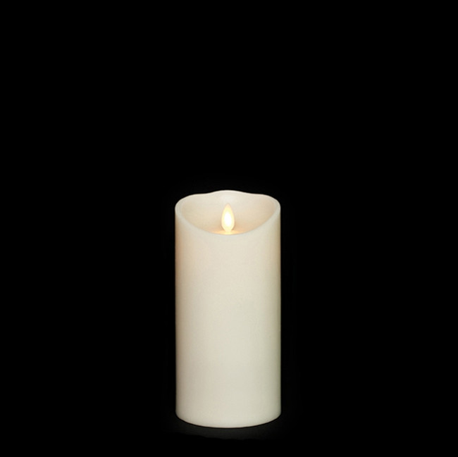 "7"" Flameless Ivory Smooth Wax Scented Candle"