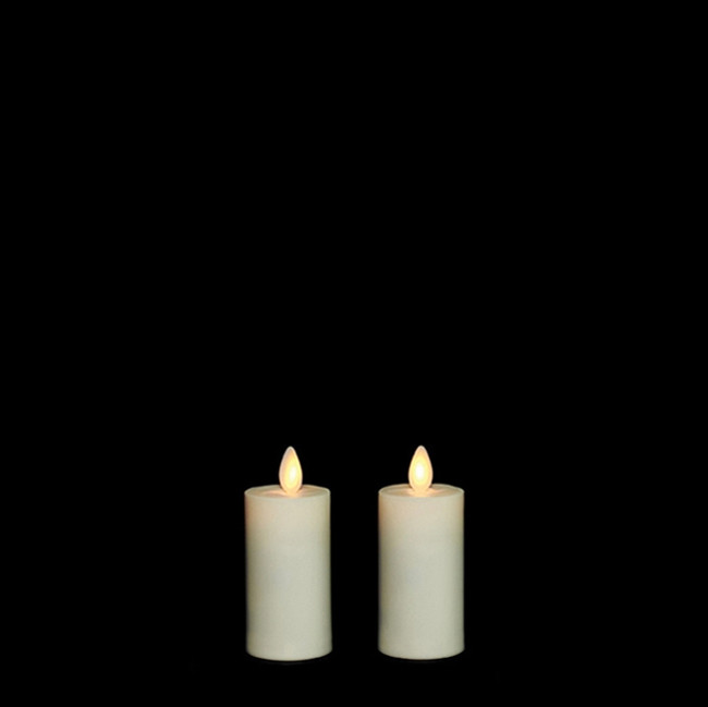 "3"" Flameless Ivory Plastic Outdoor Votive Candles"