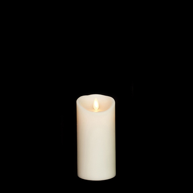 "6"" Flameless Ivory Smooth Wax Scented Candle"
