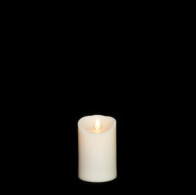 "4"" Flameless Ivory Smooth Wax Scented Candle"