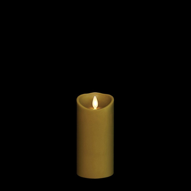 """6"""" Flameless Green Smooth Wax Scented Candle"""