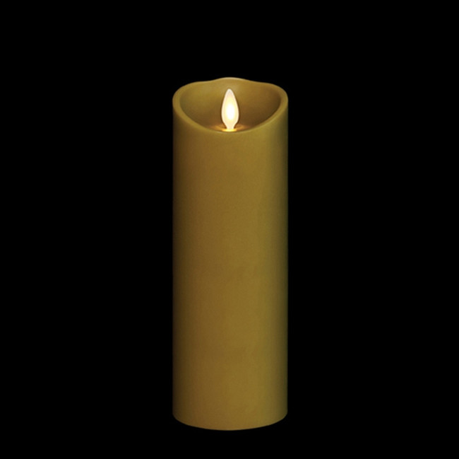 """8"""" Flameless Green Smooth Wax Scented Candle"""