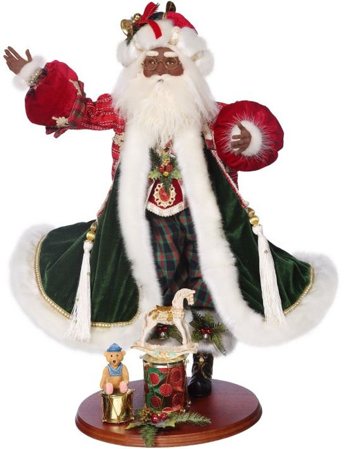African American Toy Maker Santa