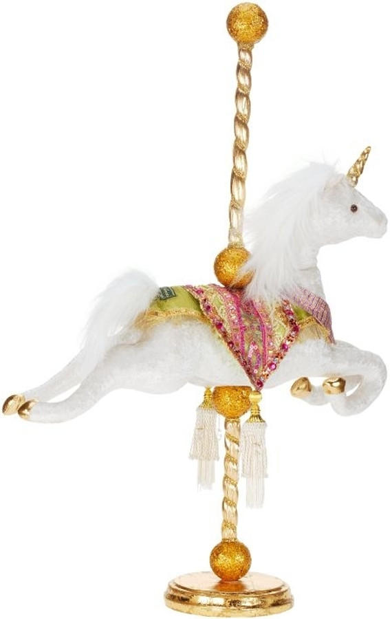 "Limited Edition Mark Roberts  30"" Carousel Unicorn 51-41958"