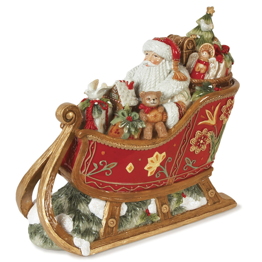 NIB Fitz and Floyd Bianco Sleigh Musical 29-135