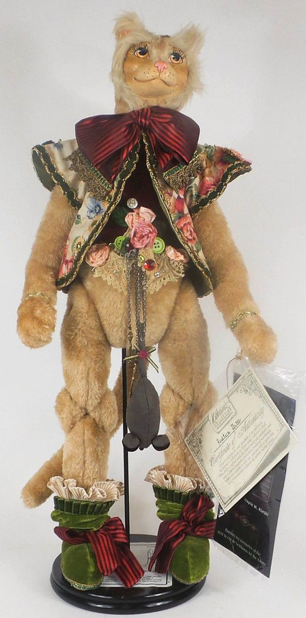 "Limited Edition Katherine's Collection Rustico Gatto Cat Doll 23"" Hand Made"