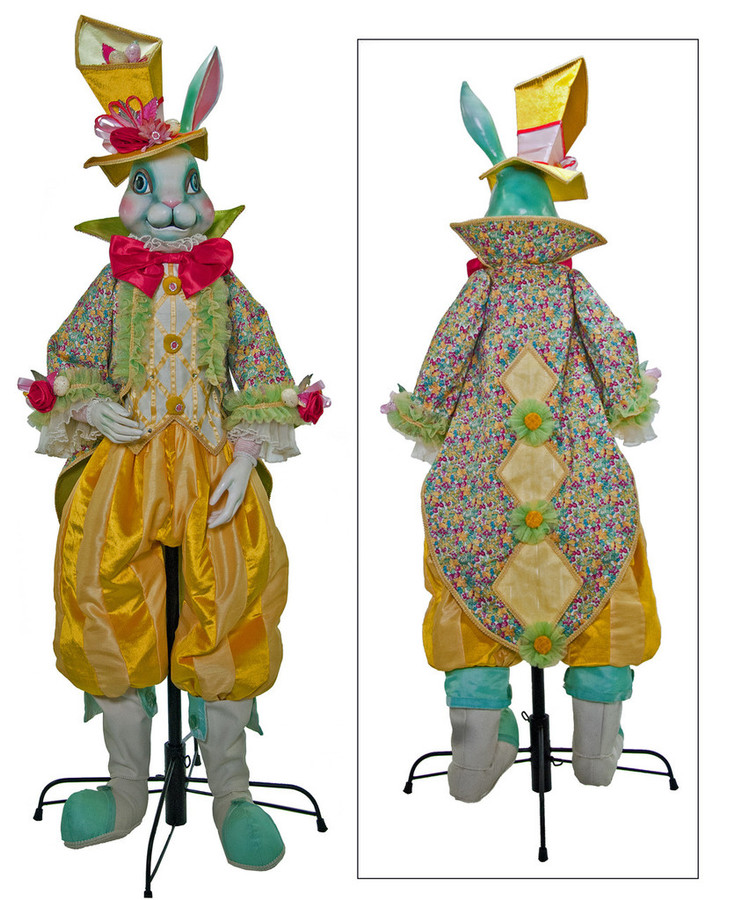 """Lifesize Pirouette Easter Bunny 60"""""""