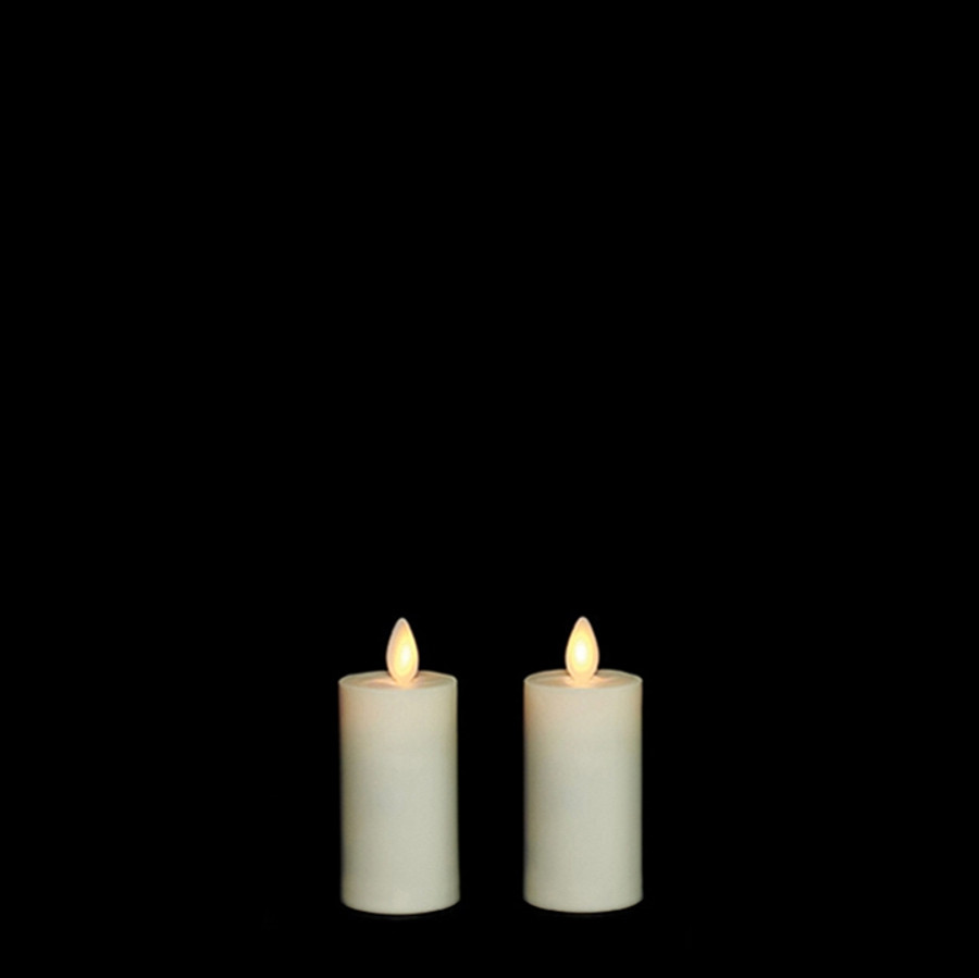 """3"""" Flameless Ivory Plastic Outdoor Votive Candles"""