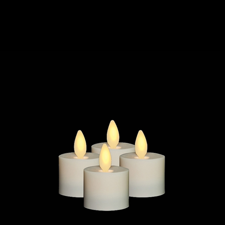 "1.5"" Flameless Ivory Plastic Tealight Candles"