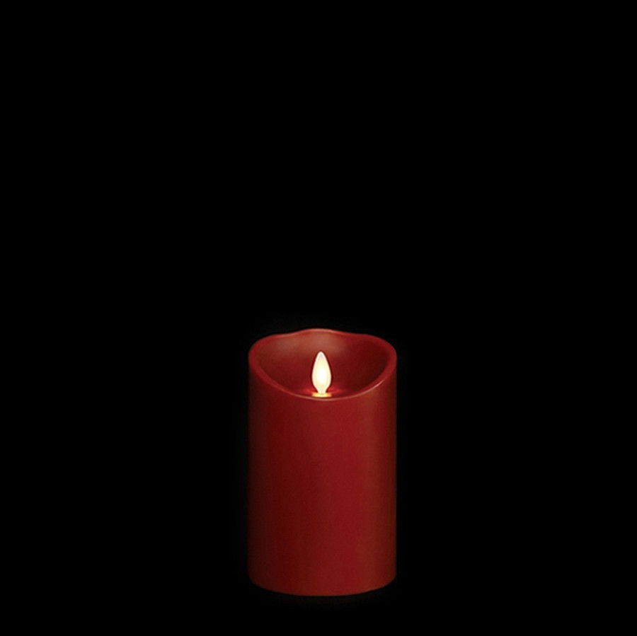 """5"""" Flameless Burgundy Smooth Wax Scented Candle"""