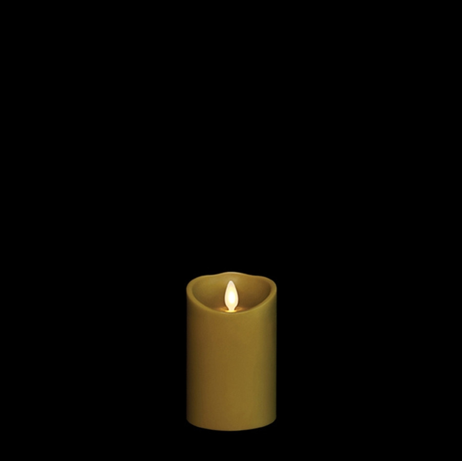 """4"""" Flameless Green Smooth Wax Scented Candle"""