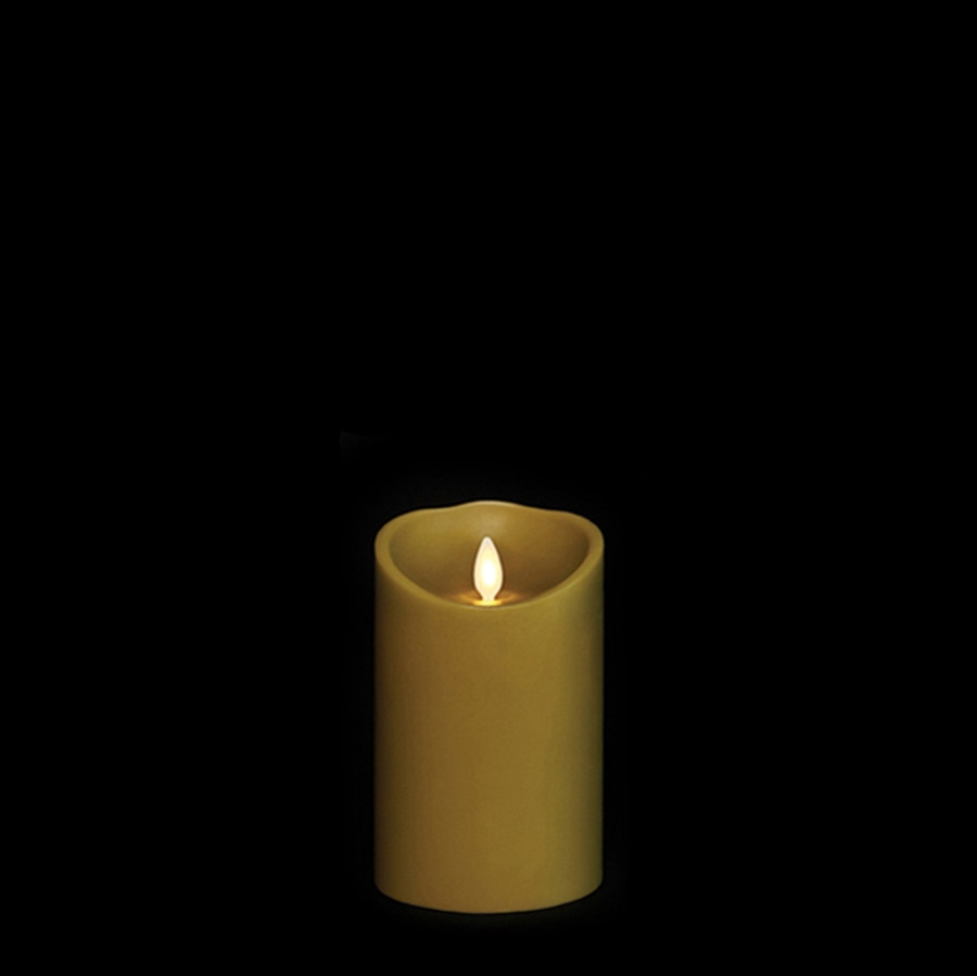"""5"""" Flameless Green Smooth Wax Scented Candle"""