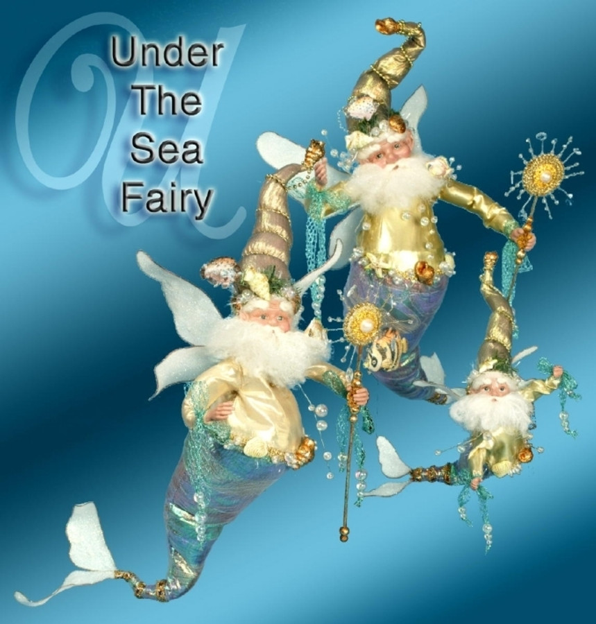 """Limited Edition Mark Roberts Large 23"""" Under The Sea Fairy 51-56608-BLU"""