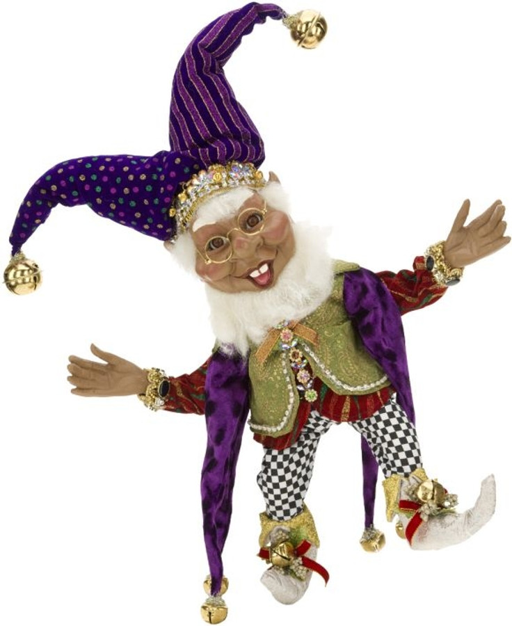 African American Court Jester Elf (small)