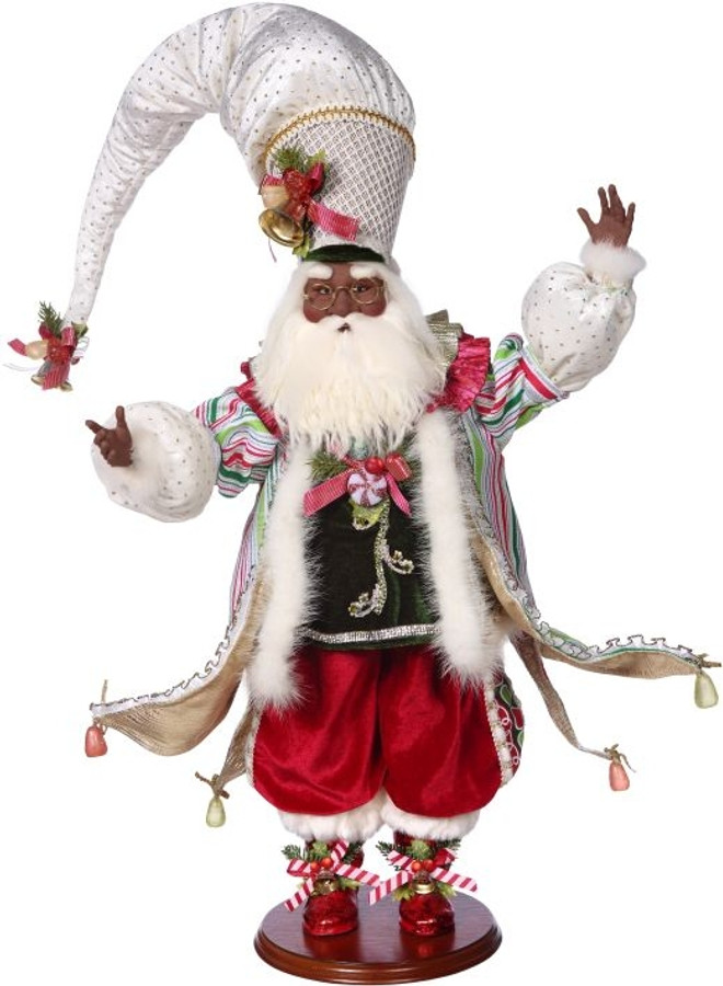 African American Candy Shop Santa