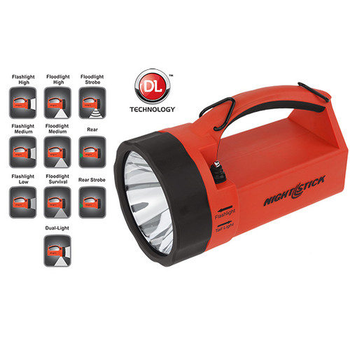 Bayco LED Rechargeable Intrinsically Safe Dual Hand Held Lightbox Lantern - Red