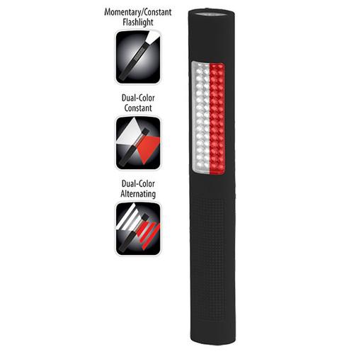 Bayco LED Alternating Red-White Floodlight and White Flashlight