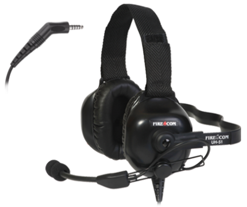 FireCom Under-helmet Wired Headset With full duplex intercome and PTT radio transmit
