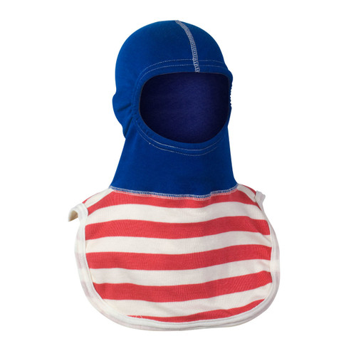 Majestic PAC II 2Ply Nomex Capt. America Hood - Royal Blue with Red and White Stripes