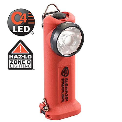 Streamlight Survivor LED Light with 12V DC Fast Charger - Orange