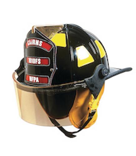 Cairns Traditional Fiberglass Composite Fire Helmet with Faceshield