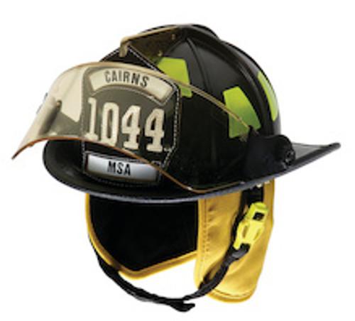 Cairns Traditional Fiberglass Composite Matte Finish Fire Helmet with Faceshield