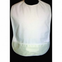 Bib with Barrier - Terry Cloth with Pocket