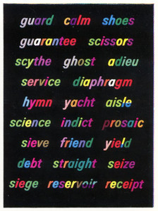 Word charts (set of 21)