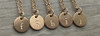 Lowercase Necklace from f to j in Rose Gold