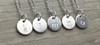 Lowercase Necklace from k to o in Silver