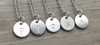 Lowercase Necklace from p to t in Silver