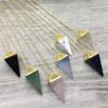 Faceted Semi-Precious Stone Necklace in Gold