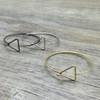 Wire Triangle Bracelet
