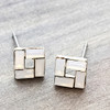 Open Square Earrings in Gold