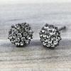 Swarovski Hive Earrings in Gunmetal