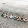 Classic Faceted Teardrop Earring in Rose Gold
