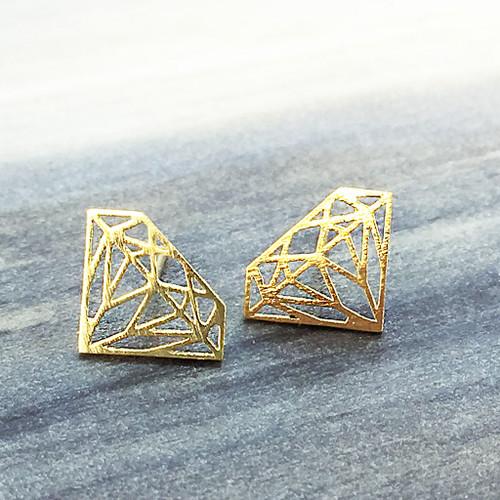 Origami Diamond Earring