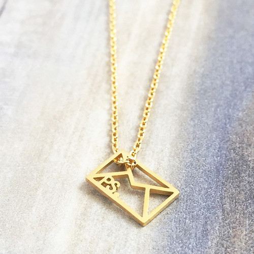 Origami Envelope Necklace