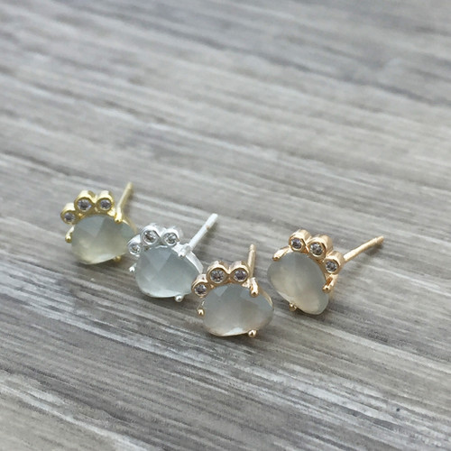 Faceted Stud Earring