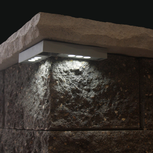 """""""Cornelius"""" Corner Pillar Cap LED Light Installed"""