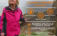 Waterproof Ladies Osprey jacket Navy