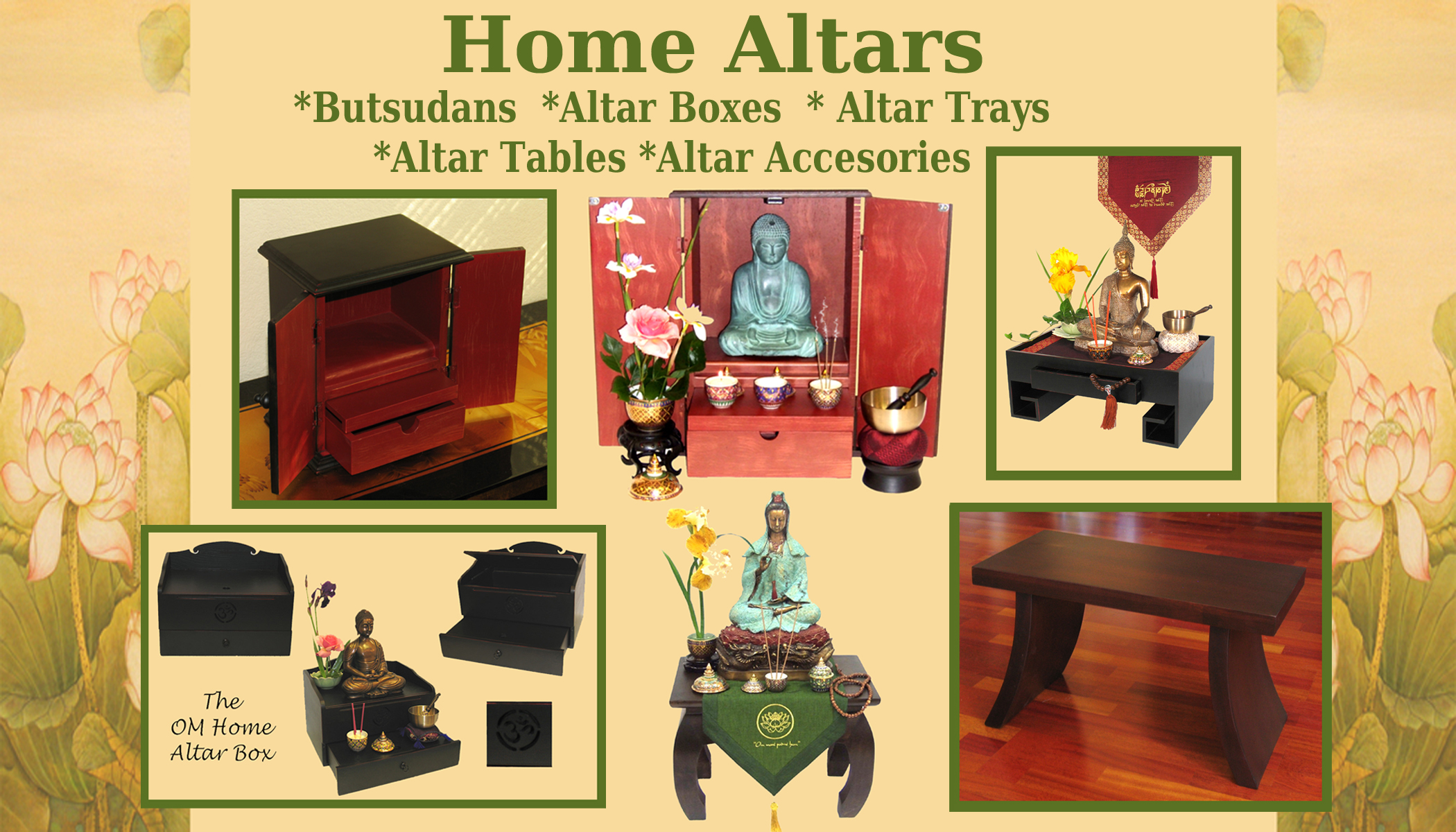 Images of altars at home