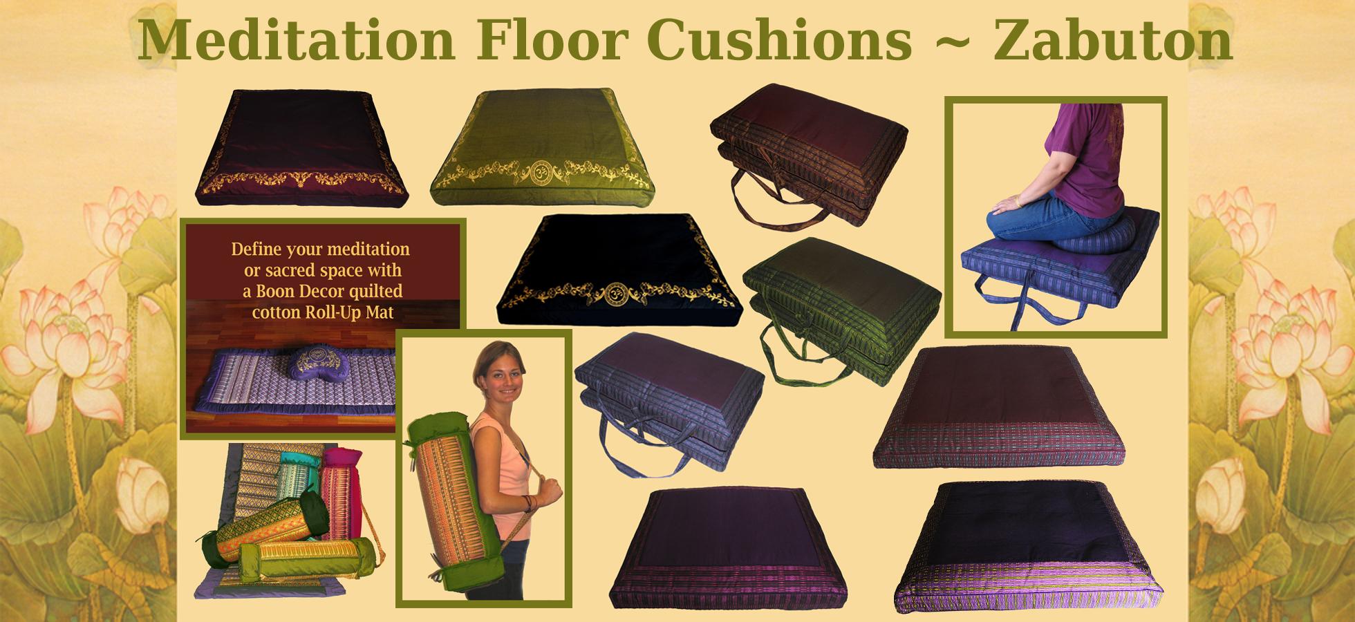 Meditation Cushion Floor Mat ZABUTONS