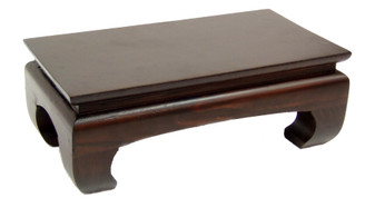 "Altar Table or Display Base - Pine Wood Dark Walnut Finish 12"" x 6 1/2"" x 4"" high"
